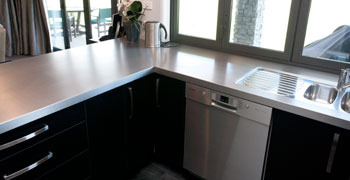 Stainless steel bench tops