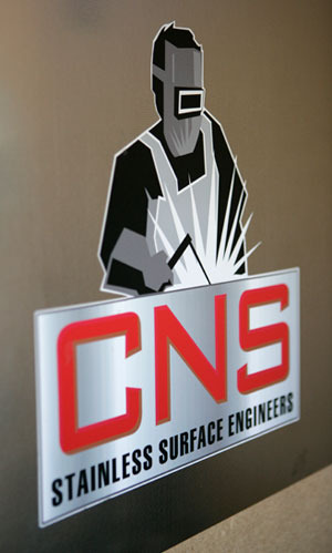 CNS Stainless Steel benchtops logo